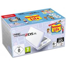 New Nintendo 2DS XL White-Lavender + Tomodachi Life
