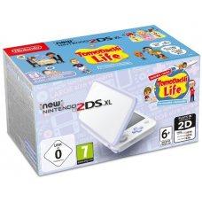 New Nintendo 2DS XL White-Lavender + Tomodachi Life