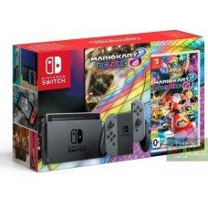 Nintendo Switch Grey + Mario Kart 8 Deluxe