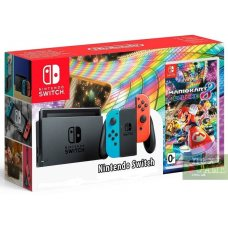Nintendo Switch Red/Blue + Mario Kart 8 Deluxe