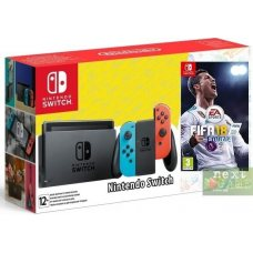 Nintendo Switch Red/Blue + Fifa 18