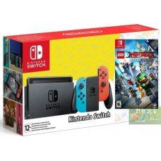 Nintendo Switch Red/Blue + Lego Ninjago Movie Video Game