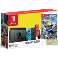 Nintendo Switch Red/Blue + LEGO City Undercover