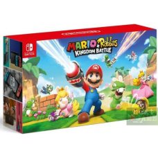 Nintendo Switch Red/Blue + Mario and Rabbids Kingdom Battle