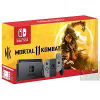 Nintendo Switch Grey + Mortal Kombat 11