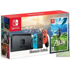 Nintendo Switch Red/Blue + The Legend of Zelda: Breath of the Wild