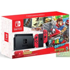 Nintendo Switch Red + Super Mario Odyssey + защитный чехол
