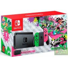 Nintendo Switch Pink/Green + Splatoon 2 + Защитный чехол