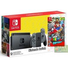 Nintendo Switch Gray + Super Mario Odyssey