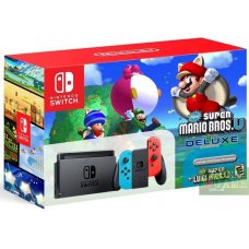 Nintendo Switch Red/Blue + New Super Mario Bros U Deluxe