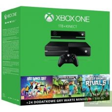Xbox One 1TB + Minecraft + Just Dance 2017 + Kinect Sports: Rivals