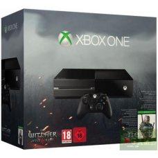 Xbox One 500Gb + Игра Witcher 3: Wild Hunt