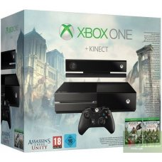 Xbox One 500Gb + Kinect + Assassins Creed Unity + Assassins Creed IV Black Flag