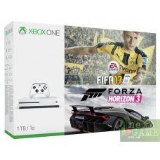 Xbox One S 1ТB + FIFA 17 + Forza Horizon 3