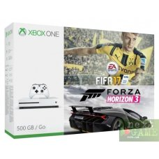Xbox One S 500GB + FIFA 17 + Forza Horizon 3 + Xbox Live Gold