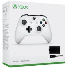 Джойстик Wireless Controller White with Play & Charge Kit (Xbox One S)