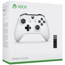 Джойстик Wireless Controller White (Xbox One S) + Adapter for Windows