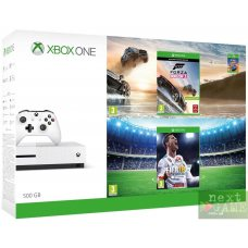 Xbox One S 500GB + FIFA 18 + Forza Horizon 3 + Hot Wheels