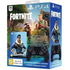 Джойстик DualShock 4 (Version 2) Black + Fortnite