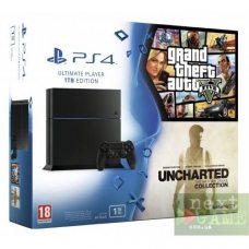 Sony PlayStation 4 1ТB + Uncharted Nathan Drake Collection + Grand Theft Auto V