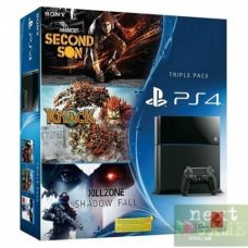 Sony PlayStation 4 500GB + Infamous: Second Son + Knack + Killzone: Shadow Fall