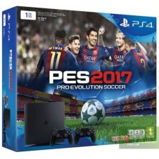 Sony PlayStation 4 Slim 1TB + DualShock 4  + Pro Evolution Soccer 2017