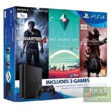 Sony PlayStation 4 Slim 1TB + Uncharted 4 A Thiefs End + Bloodborne GOTY Edition + No Man's Sky