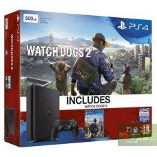Sony PlayStation 4 Slim 500GB + Watch Dogs 2
