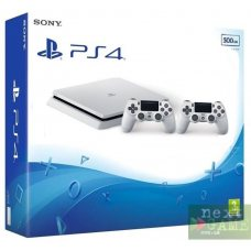 Sony PlayStation 4 Slim 500GB Glacier White + DualShock 4 Version 2