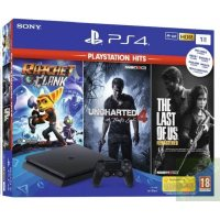 Sony Playstation 4 Slim 1Tb + Ratchet & Clank + Uncharted 4 + The Last of Us