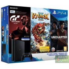 Sony PlayStation 4 Slim 500Gb + Gran Turismo Sport + Uncharted: The Lost Legacy + Knack 2