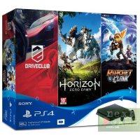 Sony PlayStation 4 Slim 500GB + DriveClub + Horizon: Zero Dawn + Ratchet & Clank