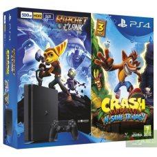 Sony PlayStation 4 Slim 500GB + Crash Bandicoot: The N Sane Trilogy + Ratchet & Clank