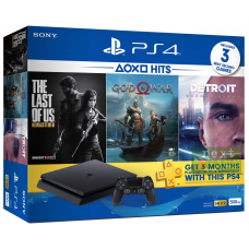 Sony PlayStation 4 Slim 500Gb + Detroit: Become Human + God of War IV + The Last of Us + PlayStation Plus 90