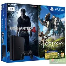 Sony PlayStation 4 Slim 1TB + Uncharted 4: A Thief's End + Horizon: Zero Dawn + PlayStation Plus