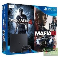 Sony PlayStation 4 Slim 1TB + Uncharted 4: A Thief's End + Mafia 3