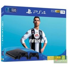 Sony PlayStation 4 Slim 1TB + DualShock 4 + FIFA 19