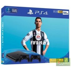 Sony PlayStation 4 Slim 500GB + DualShock 4 + FIFA 19