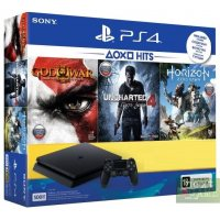 Sony PlayStation 4 Slim 500Gb + Horizon Zero Dawn + Uncharted 4 + God of War III