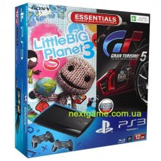 Sony Playstation 3 Super Slim 12Gb + Gran Turismo 5 + LittleBigPlanet 3