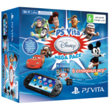 Sony PS Vita 2000 (Slim) + Карта Памяти 16Gb + 6 Игр Disney Mega Pack + Чехол
