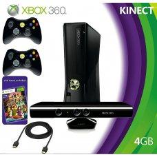 Xbox 360 Slim 4Gb LT+3.0 + Kinect + Игра Kinect Adventures +дополнительный джойстик + HDMI