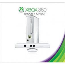 Xbox 360 Slim White 1000Gb FREEBOOT + 250 Игр + Kinect + Игра Kinect Adventures + HDMI