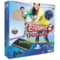 Sony Playstation 3 Super Slim 500Gb + Move Starter Pack + Праздник Спорта 2