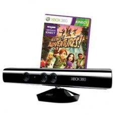 Microsoft Kinect + лицензионная игра Kinect Adventures ( Xbox 360 Slim)