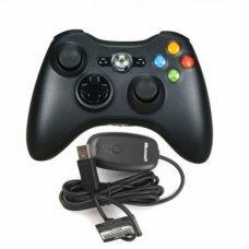 Джойстик беспроводной Wireless Controller XBOX 360 оригинал + Ресивер для подключения к PC (XBOX 360)