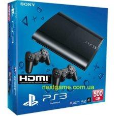 Sony Playstation 3 Super Slim 500Gb + дополнительный джойстик + HDMI