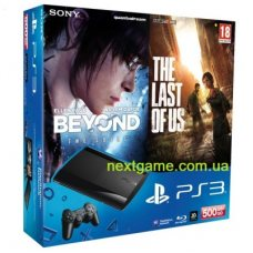 Sony Playstation 3 Super Slim 500Gb + Beyond: Two Souls + The Last of Us