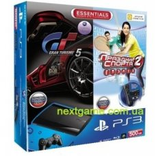 Sony Playstation 3 Super Slim 500Gb + Gran Turismo 5 + Праздник Спорта + Move Starter Pack