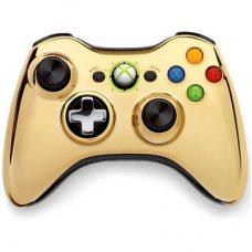 Джойстик беспроводной Wireless Controller Chrome Gold оригинал (XBOX 360)